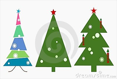 Christmas Trees in Vector