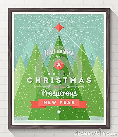 Free Christmas Type Design Poster Stock Photos - 45720143
