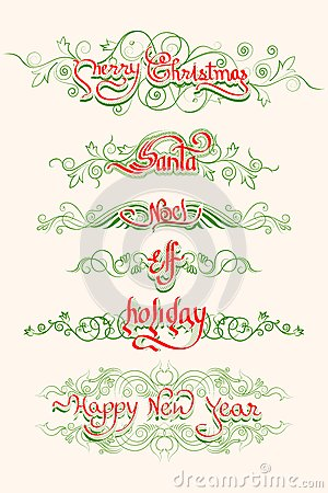 Christmas Typography Swirls