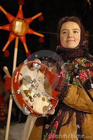 Christmas in Ukraine. Festival Dream Land. Editorial Stock Photo