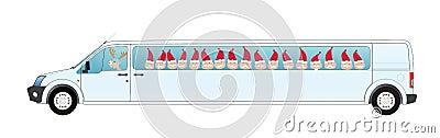 Christmas van