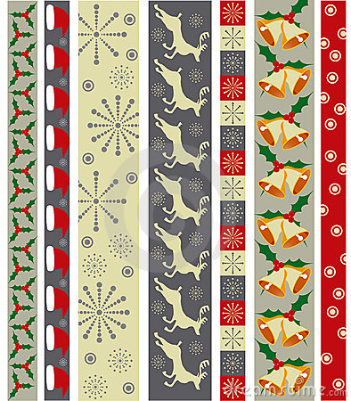 Free Christmas Vector Border Stock Image - 6636181