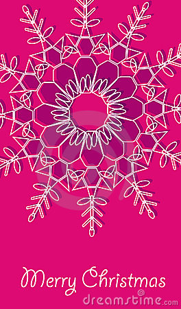 Christmas vector card with snowflakes