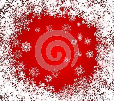 Christmas vector grunge background. frozen window