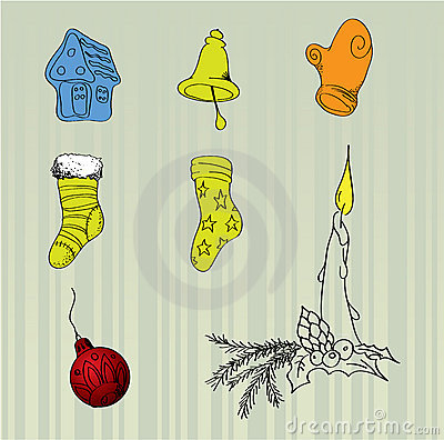 Christmas vector items