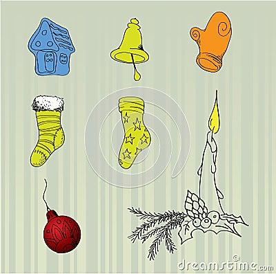 Christmas vector items