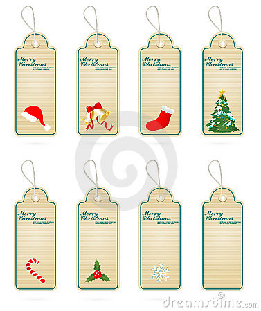 Christmas Vector Label Elements Collections