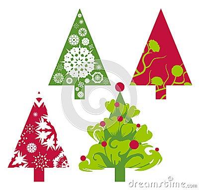 Christmas vector trees