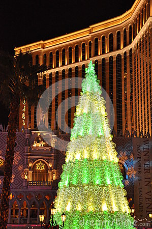 Christmas at The Venetian Resort Hotel Casino in Las Vegas Editorial Photo