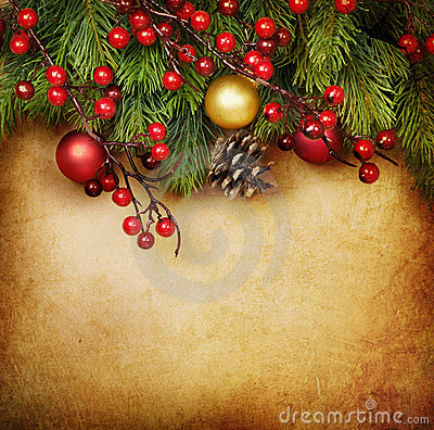 Free Christmas Vintage Card Stock Photography - 17495462