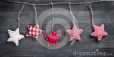 Christmas Vintage Decorations Hanging On String
