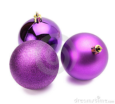Free Christmas Violet Balls Stock Photos - 17271573