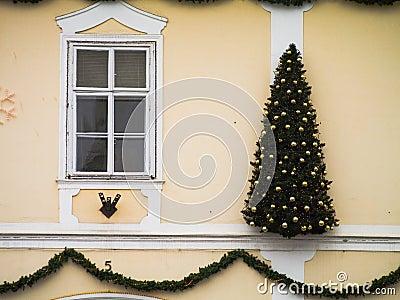 Christmas wall