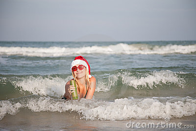 Christmas Waves Stock Image - Image: 12184001