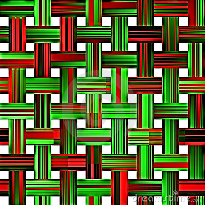 Christmas weave pattern