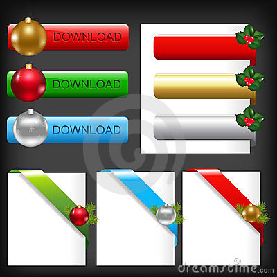 Christmas Web Elements. Vector