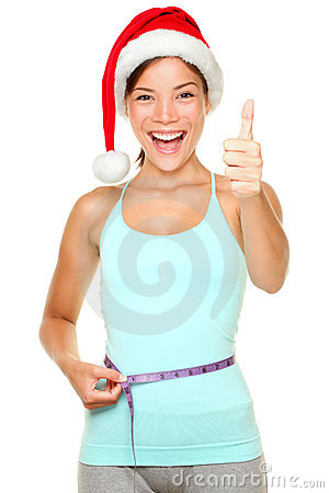 Free Christmas Weight Loss Fitness Concept Royalty Free Stock Photos - 21385718