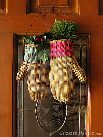 Christmas Wicker Gloves