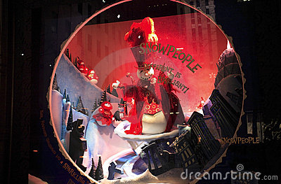 Christmas window display Editorial Photography