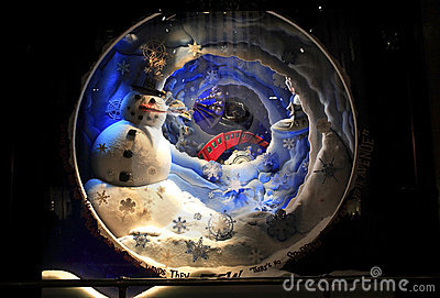 Christmas window display Editorial Photo