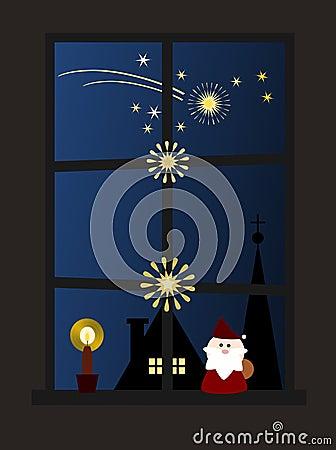 Free Christmas Window (II) Royalty Free Stock Photography - 3303367