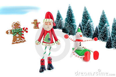 Christmas and winter characters