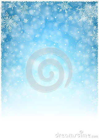 Free Christmas Winter Frame - Illustration. Christmas White Blue - Empty Background Portrait Stock Photography - 62186792