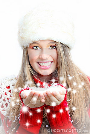 Free Christmas Winter Girl Royalty Free Stock Photos - 17213228