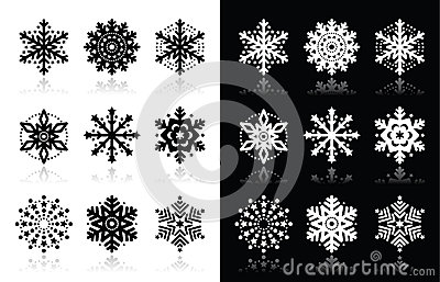 Christmas or winter Snowflakes  icons