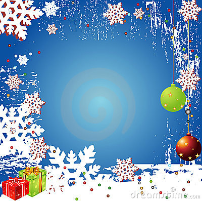 Christmas Winter Vector Backgr