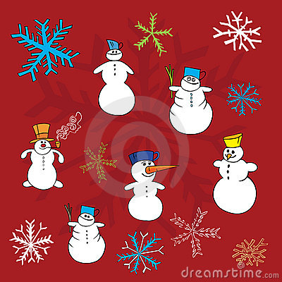 Christmas winter vectors