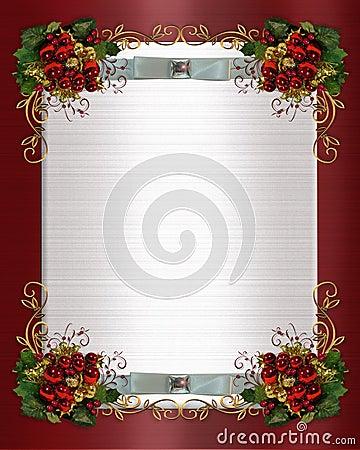 Christmas or winter wedding border