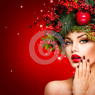 Free Christmas Winter Woman Royalty Free Stock Images - 46610409