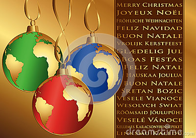 Christmas wishes in different languages