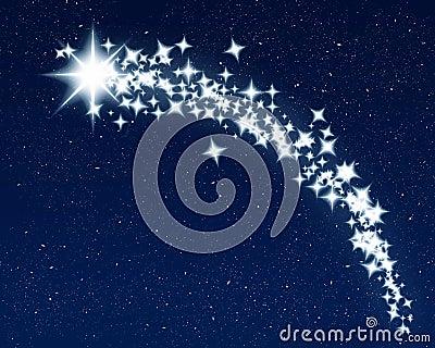 Christmas wishing shooting star