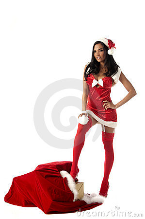 Free Christmas Woman Royalty Free Stock Images - 10672459