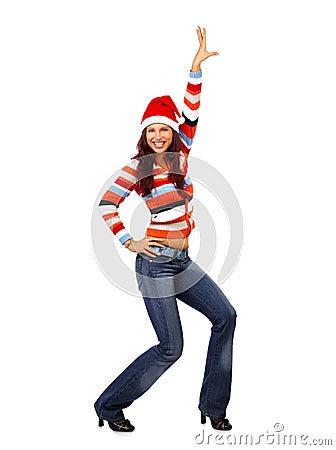 Free Christmas Woman Stock Photography - 1278962