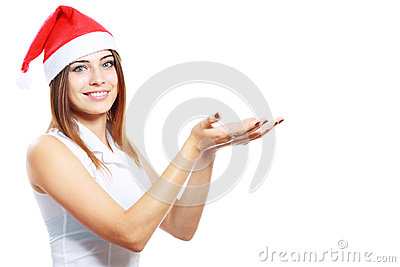 Christmas woman show at the open palms