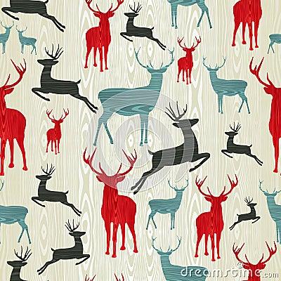 Free Christmas Wooden Reindeer Pattern Stock Photos - 26723883