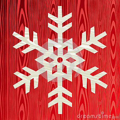 Christmas wooden snowflake greeting card