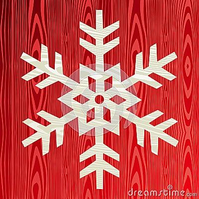 Christmas wooden snowflake greeting card