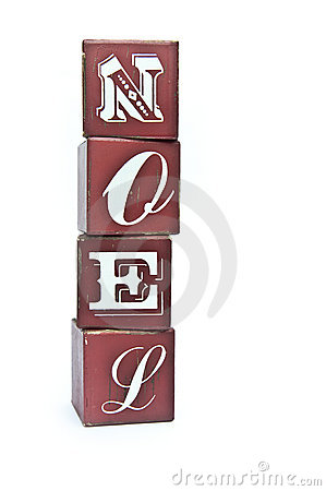 Free Christmas Word Noel On Wooden Blocks Royalty Free Stock Photo - 21632955