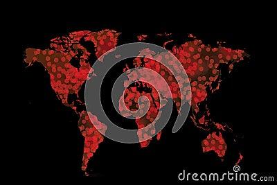 Christmas World Map