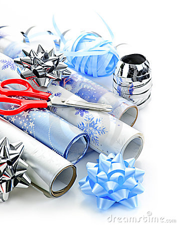 Free Christmas Wrapping Paper Rolls Royalty Free Stock Image - 17787146
