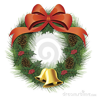 Free Christmas Wreath Royalty Free Stock Photography - 13607257