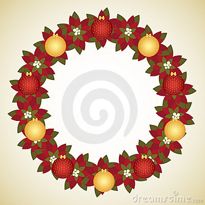 Free Christmas Wreath Royalty Free Stock Photography - 16453557