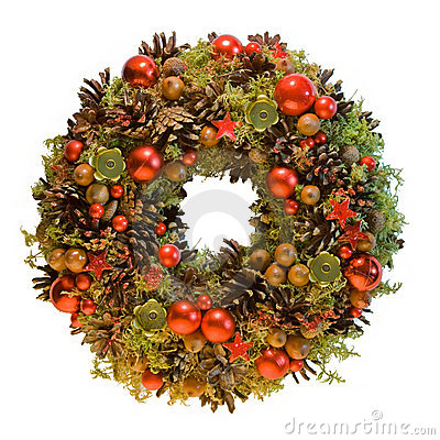 Free Christmas Wreath Royalty Free Stock Image - 16587446