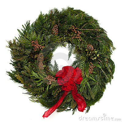 Free Christmas Wreath Royalty Free Stock Photography - 17299217