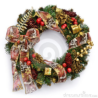Free Christmas Wreath Royalty Free Stock Photo - 19465045