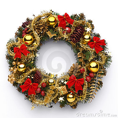 Free Christmas Wreath Royalty Free Stock Photography - 19640707